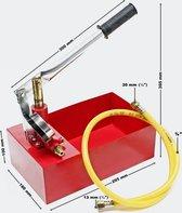 Vulpomp, testpomp 25bar voor verwarmingswater op zonne-energie, warmteopwekking.