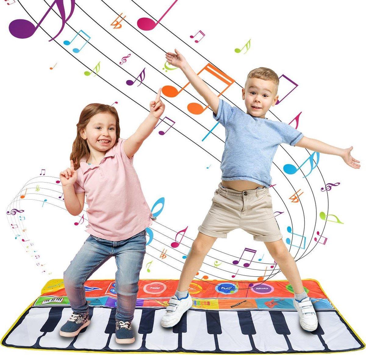 DePlay XL Piano Mat - Speelmat - Dansmat - Keyboard - Speelkleed Baby - Acht Instrumenten - Anti-sli