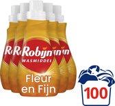 Robijn Fleur en Fijn Wasmiddel - 5 x 20 wasbeurten - Voordeelverpakking