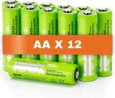 100% Peak Power oplaadbare batterijen AA - Duurzame Keuze - NiMH AA batterij mignon 2300 mAh - 12 stuks