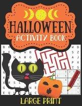 Halloween Activity Book Large Print