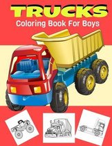 Trucks Coloring Book For Boys