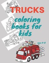 Trucks coloring books for kids ages 4-8