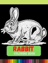 Rabbit Coloring Book: Adult Coloring Book: Stress Relieving Animal Designs Paperback