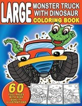 Large Monster Truck With Dinosaur Coloring Book