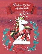 Christmas Unicorn coloring book