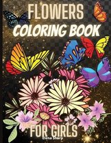 Flowes Coloring Book For Girls
