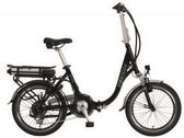 E-VISION MATISSE FOLDABLE E-BIKE 20 INCH 7 SPEED  BLACK