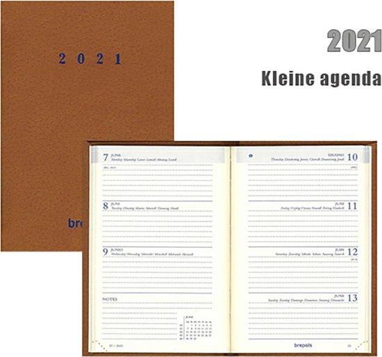 Afbeelding van Kleine Brepols agenda 2021 - TERRA - Delta - Lichtbruin - 7d/2p - 6talig - Klein formaat: 8,1 x 12 cm