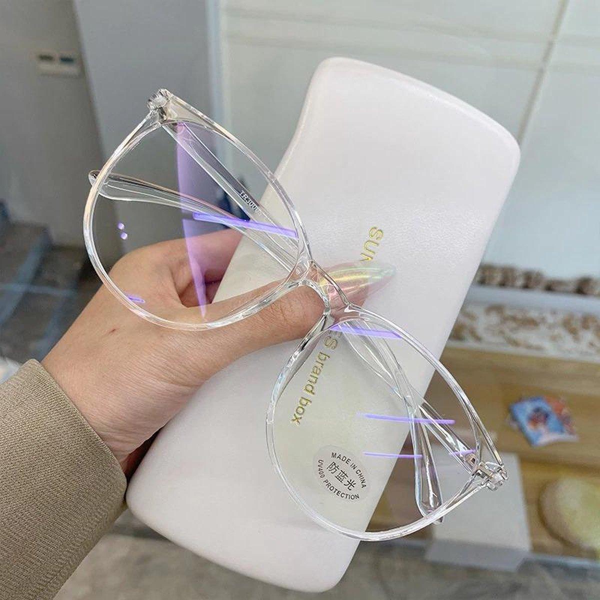 Computerbril - Blauw Licht Bril - Blue Light Glasses - Transaprant