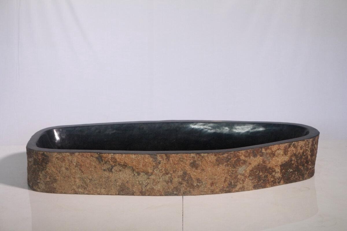 Natuurstenen waskom | DEVI-W20-220 | 104x43x15
