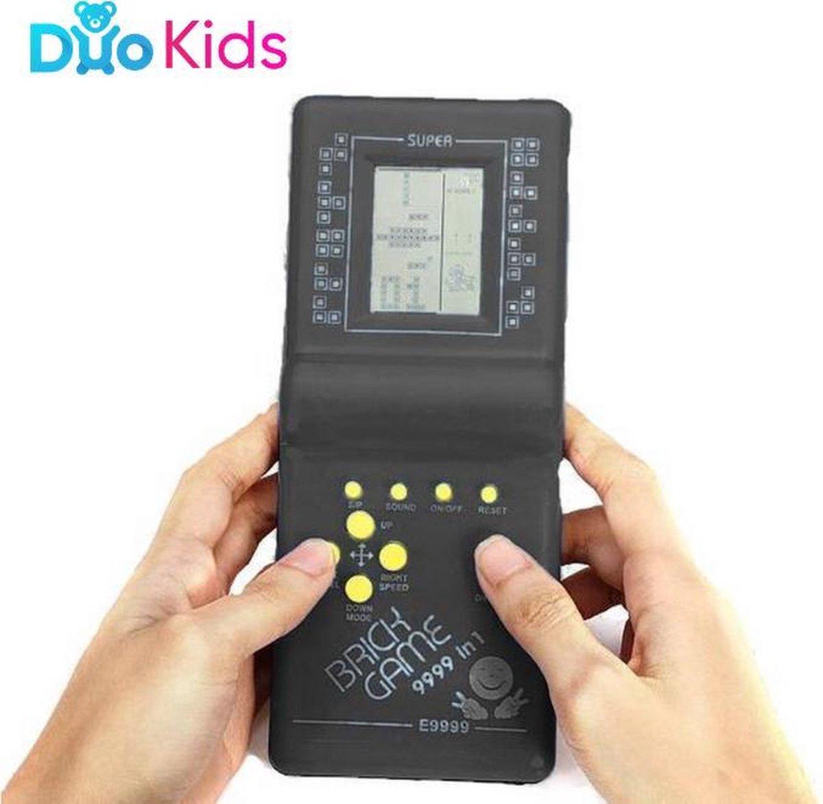 Duo Kids - Retro Arcade - Tetris Elektronisch spel - Brick Game spelcomputer - 18 x 7,5 cm