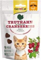 10x GimCat Kattensnack Crunchy Kalkoen - Cranberry 50 gr