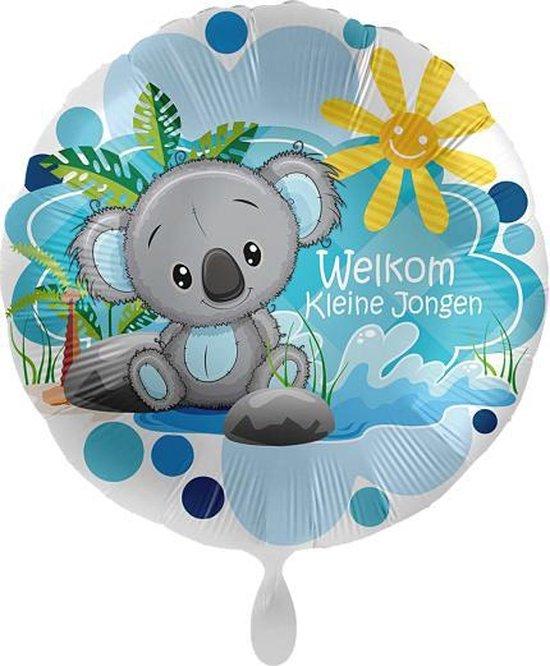 Everloon - Folieballon - Welkom Kleine Jongen - 43cm - Voor Geboorte Baby Jongen