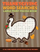 Thanksgiving Word Searches Large Print Puzzle Book