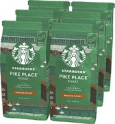 Starbucks Pike Place Medium Roast koffie - koffiebonen - 6 zakken à 200 gram