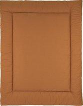 Meyco Uni boxkleed - 80x100cm - Camel/Warm sand
