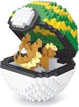 LNO Pokeball Eevee nanoblocks - 450 miniblocks - Pokémon