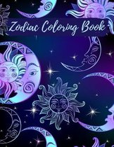 Zodiac Coloring Book: Adult Stress Relieving Coloring Book For Adults, Zodiac Signs With Relaxing Designs, Amazing Astrology Design and Horo