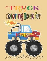 Truck Coloring Book For Kids: Construction Trucks