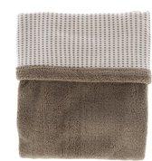 Snoozebaby wieg deken dubbellaags van organic katoen en gerecycled polyester - 75x100cm - T.O.G. 2.0 - Warm Brown bruin