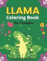 LLAMA Coloring Book For Teenagers