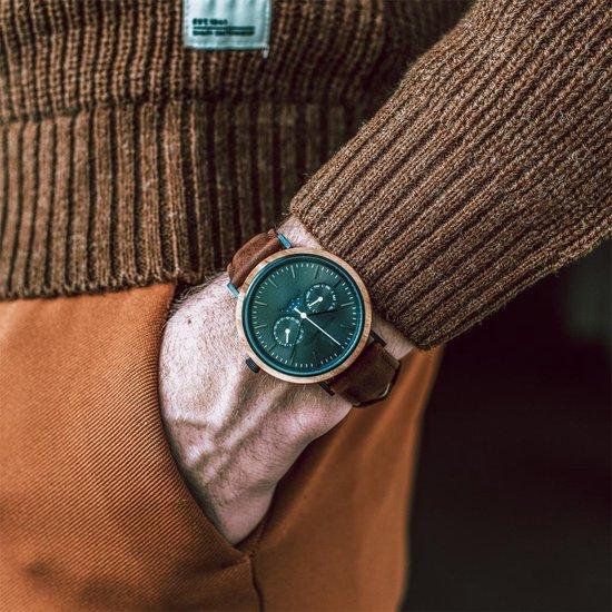 De officiële WoodWatch   Carbon Olive Pecan   Houten horloge heren