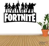Muursticker - Fortnite - Playstation 5 - Topcadeaus - Cadeau - Poster - kinderkamer - zwart wit
