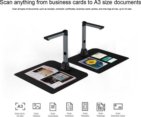 Home Office - VIISAN - A3 Size, 13MP Document Camera Scanner - V13