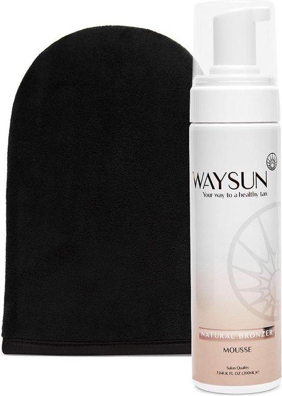 Waysun® Natural Bronzer Zelfbruiner - 200 ML - Zelfbruiner Handschoen
