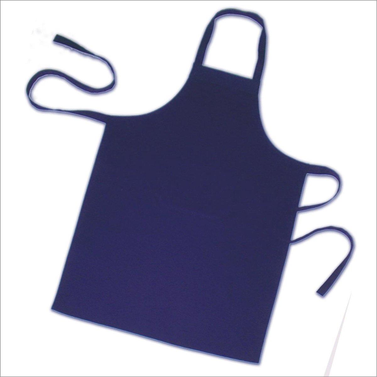 Homéé® Horeca suite Keukenschorten BBQ BIB Apron - marine blauw - 70x100 cm - 2 stuks