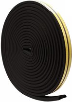 Universele Tochtstrip - Zelfklevende Deurstrip - Waterdicht en windbestendig - Tochtwering - 9MM / 5,5MM - 5 Meter (2x2,5M) - Zwart Type D