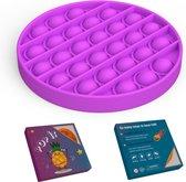 ColourFam® siliconen pop up fidget - Paarse cirkel