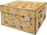 Dutch Design Brand - Dutch Design Storage Box - Opbergdoos - Landkaart - Vintage - Ancient World Map