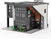Mould King-Modern Starbucks Cafe koffiebar met led verlichting  2728 bouwstenen ** Lego alternatief**