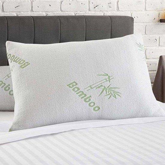 Dekbeddenwereld- bamboe kussen- memory foam- traagschuim- 48x60cm- anti allergieën - anti snurk- zacht, koel & drukverlagend