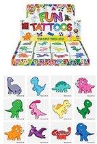 Tattoos kinderen - Dinosaurus - Tijdelijke tattoo DINO DINOSAURUS - 60 stuks / FUNARTIKEL / UITDEEL CADEAUTJES / KINDERVERJAARDAG