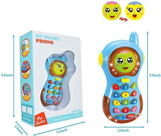 Babyspeelgoed Telefoon / Speelgoed voor 1-3 jaar oude Baby Jongens Meisjes Cadeau Telefoon / Kindertelefoon Speelgoed / Baby Peuters Verjaardagscadeau Baby (Blauw)
