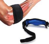 Medicca - Elleboogbrace - Brace voor Tennisarm - Sportbrace - Zweetband - Verstelbaar - Links en Rechts - One Size