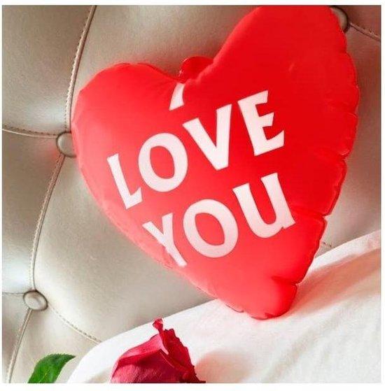 "Opblaasbare hart ""I LOVE YOU"""