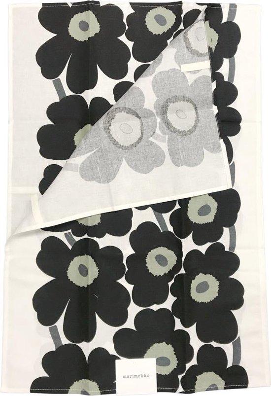 Marimekko Set van 2 theedoeken Unikko Zwart 47 x 70 cm