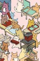 Literary Binder Cats Field Journal / Field Notebook / Field Book / Memo Book / Pocket Notebook, 100 pages/50 sheets, 4x6
