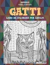 Libri da colorare per adulti - Fiori e motivi - Animali - Gatti