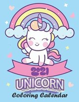 Unicorn Coloring Calendar 2021