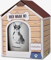 Mok - Hond - Cadeau - Chihuahua - Gevuld met een dropmix - In cadeauverpakking met gekleurd lint