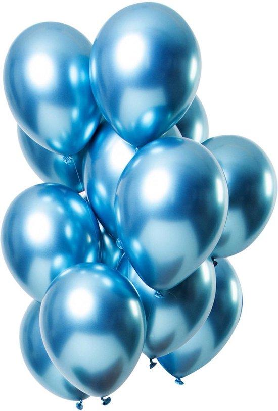 100 stuks blauw chrome latex ballon 30 cm