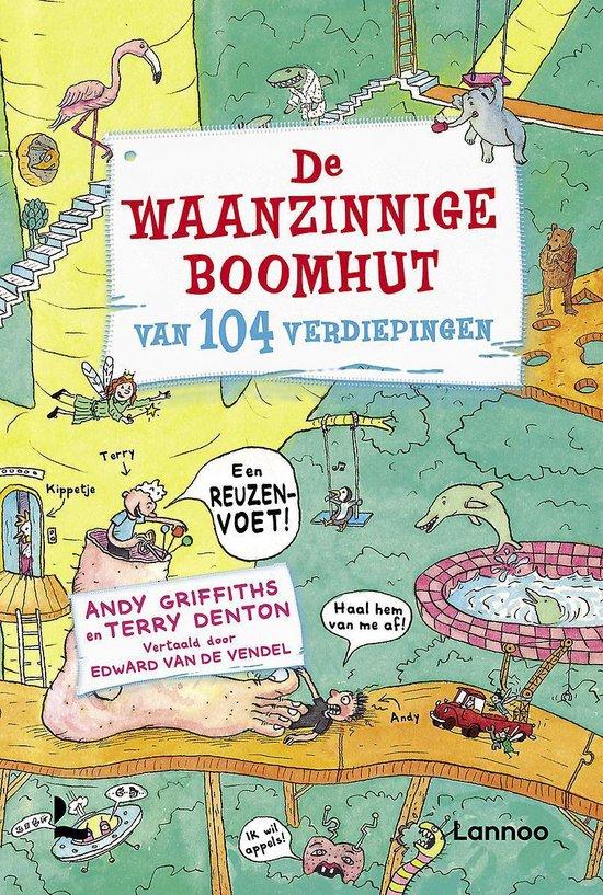 Boek cover Boek De Waanzinnige Boomhut Van 104 Verdiepingen van Andy Griffiths (Hardcover)