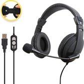 Ciforce® Headset met Microfoon voor Laptop & Pc - Headsets - Koptelefoon met Microfoon - Videobellen - USB - Zwart