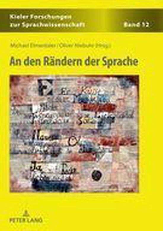 Boek cover An den Rändern der Sprache van  (Onbekend)