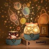 Kindernachtlamp - nachtlamp - Oplaadbaar met 8 opzetkapjes - slaaptrainer - Sterren Projector - Sterrenhemel - Galaxy Projector - Star lamp -kinderlamp slaapkamer - bedlamp - Prachtig En Rustgevend
